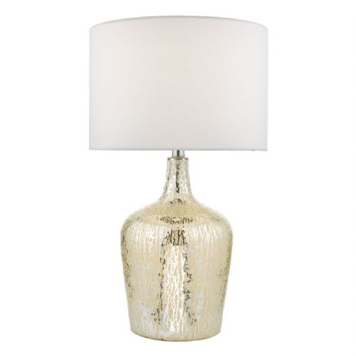 Lolek Table Lamp Silver Glass With Shade LOL4232